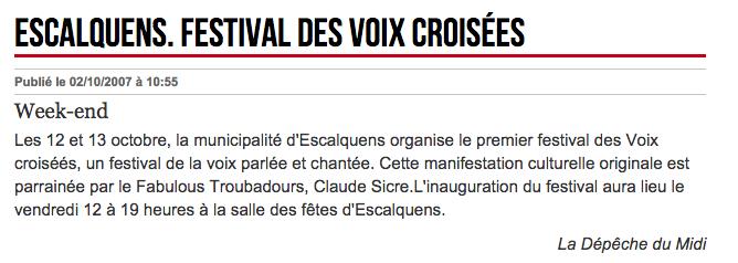 Festival des Voix Croisées