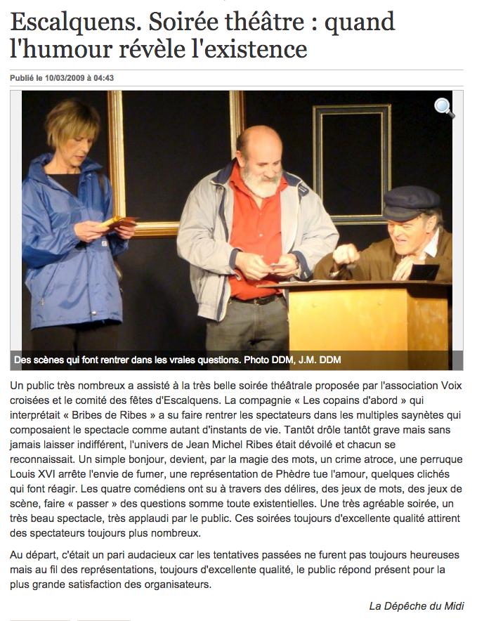Soirée théâtre quand l'humour révèle l'existence